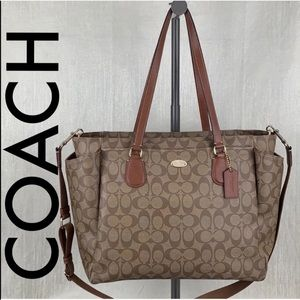 👑COACH XLARGE BABY BAG/ BUSINESS BAG  💯AUTHENTIC